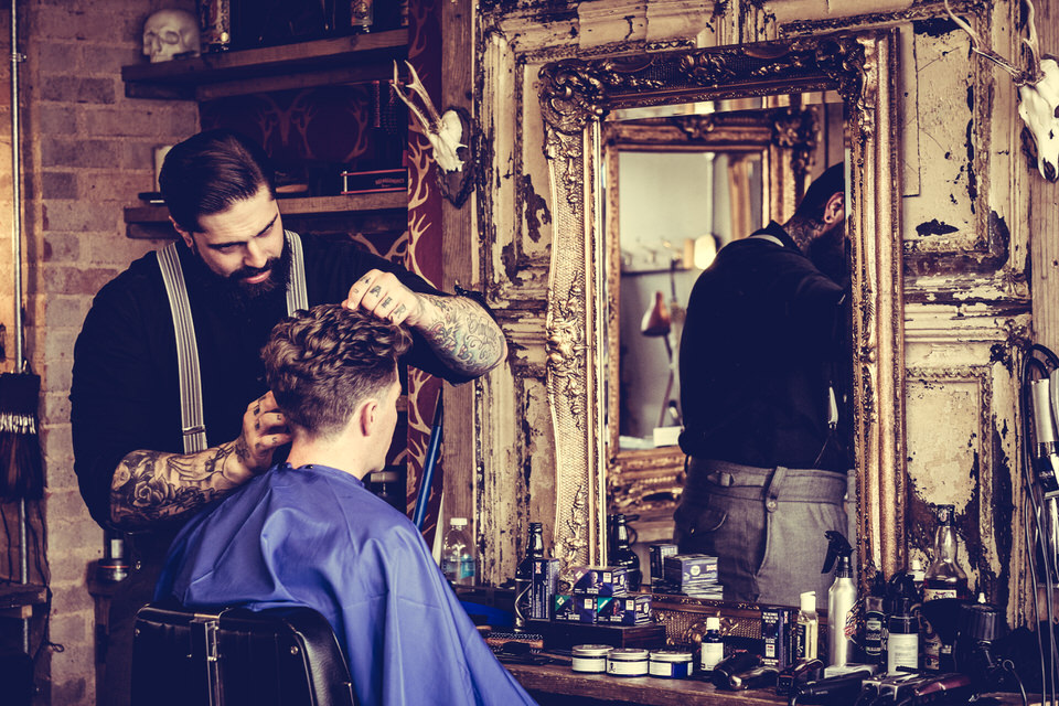 """""""Whilst talking is a big part of the job, listening is a barber's best friend."""" -"""