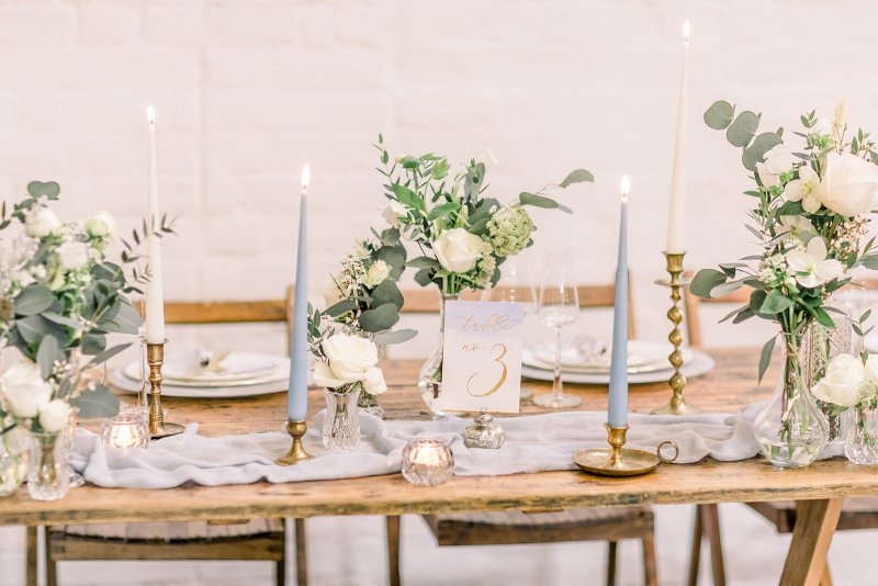 Petal and Wild bud vases for top table at The Railway Barn.jpg