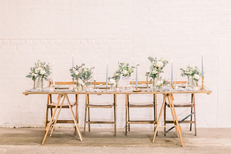 Petal and Wild bud vases on top table at The Railway Barn 1.jpg