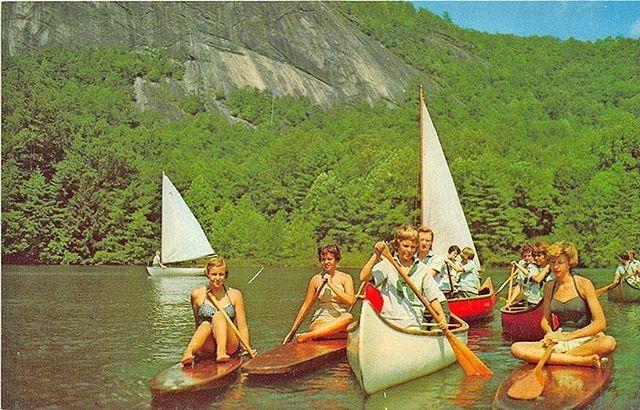 cmw! camp!!! 🥰 vintage postcard!