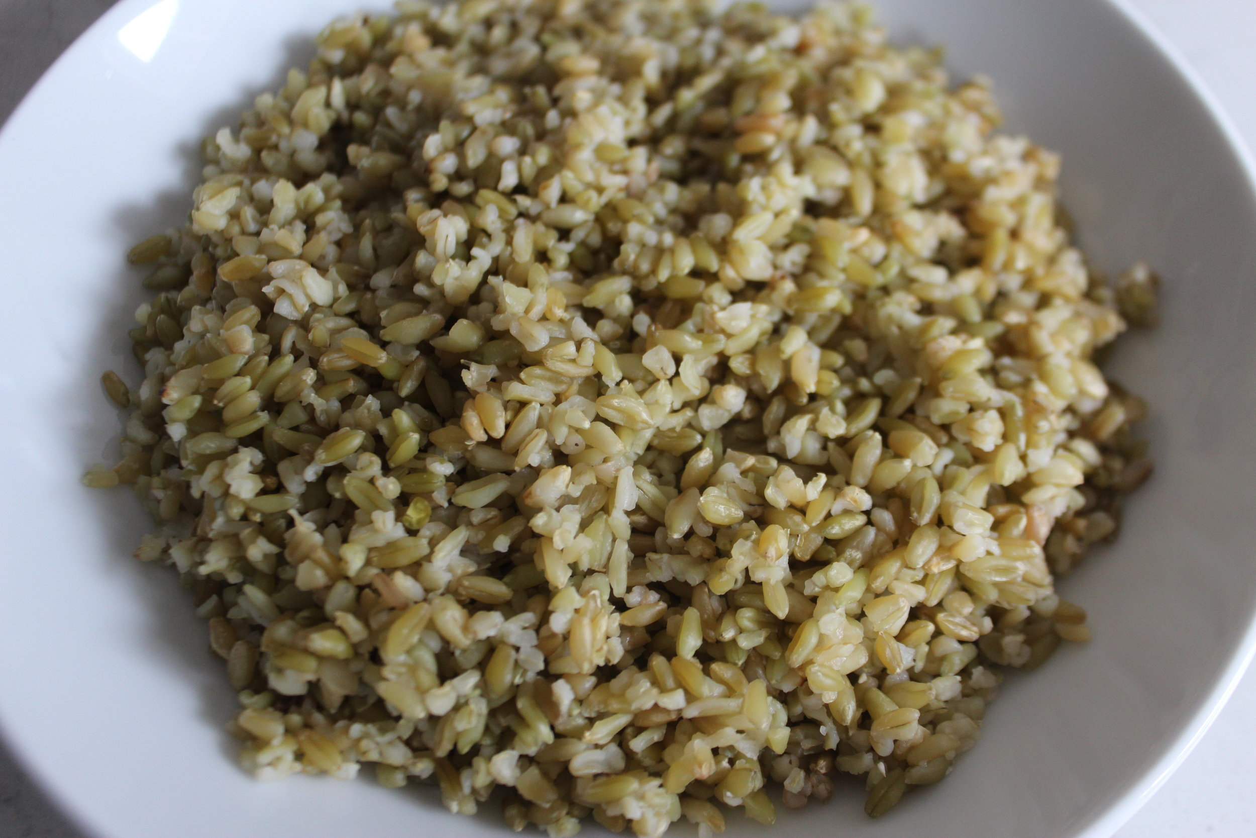 cooked freekeh