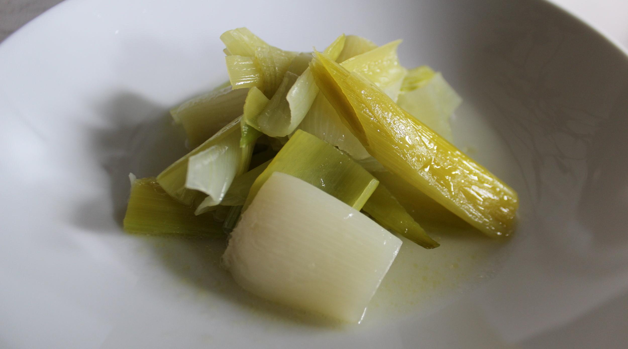 Buttery Braised Leeks