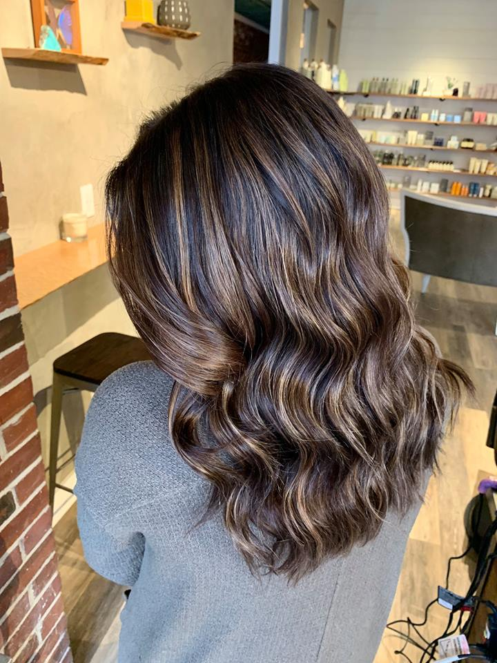 Deepened base with foilayage highlights and toned to a rich, warm, dimensional brunette..jpg