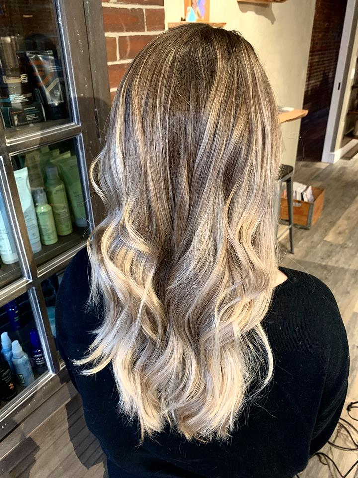partial highlight balayage, toned to perfection and reshaped her long layers..jpg