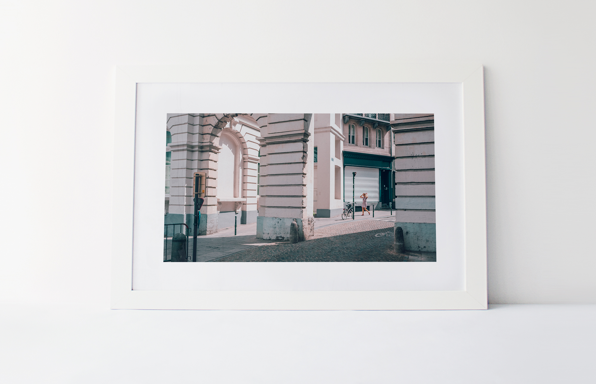 A walk in Brussels  40cm x 60cm print Frame included