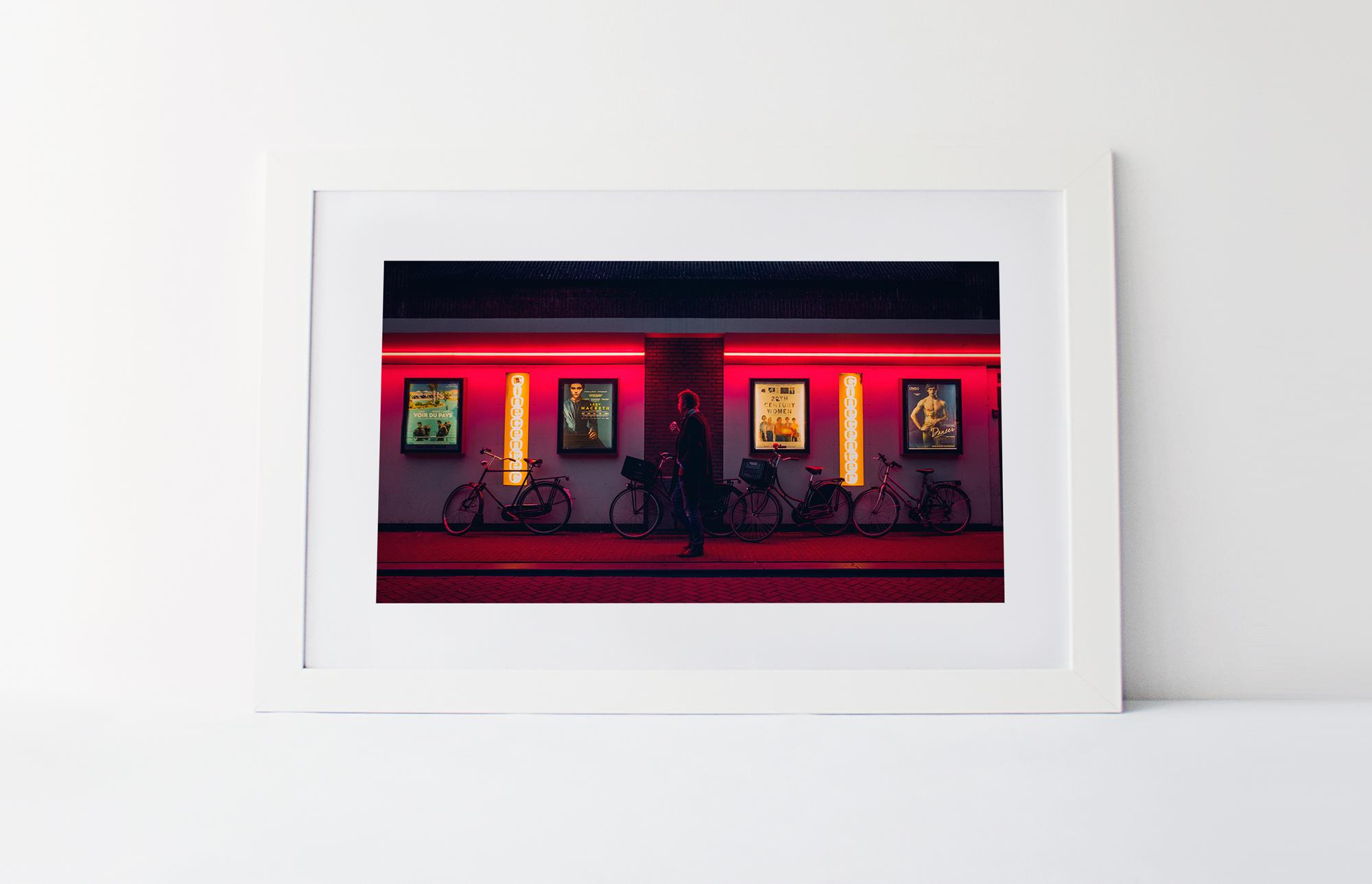 Red light cinema  40cm x 60cm print Frame included