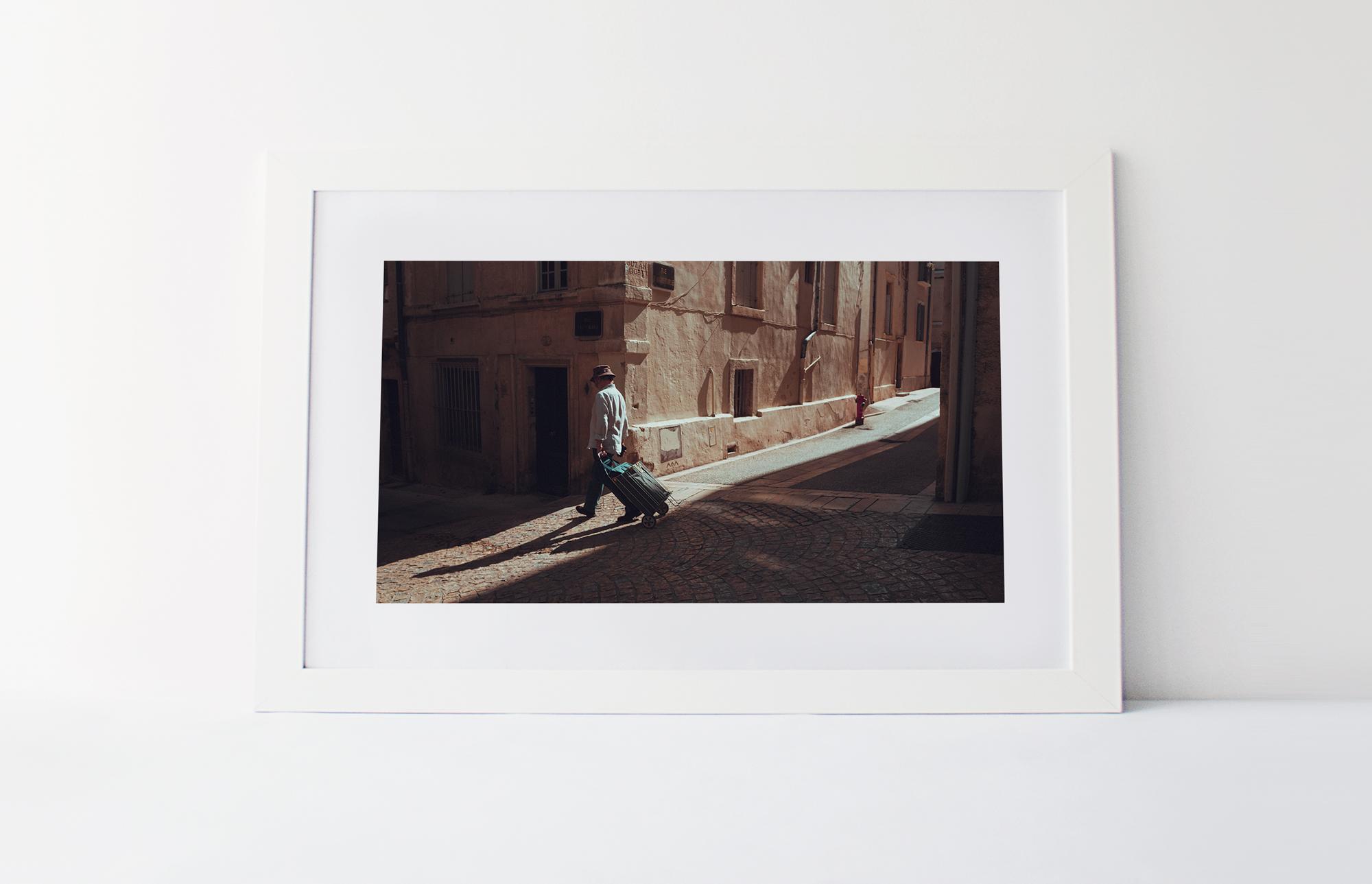 Alley sun  40cm x 60cm print Frame included