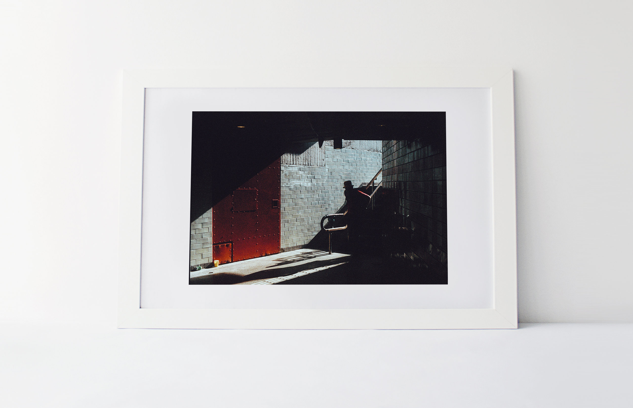 Red shade  40cm x 60cm print Shot on film Frame included