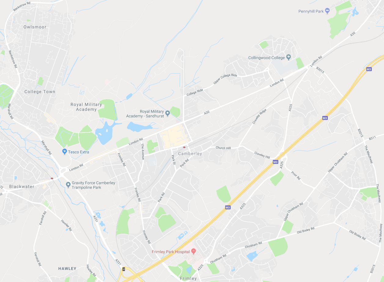 Camberley map