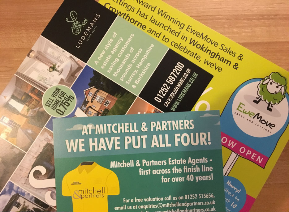 Estate Agents leaflets
