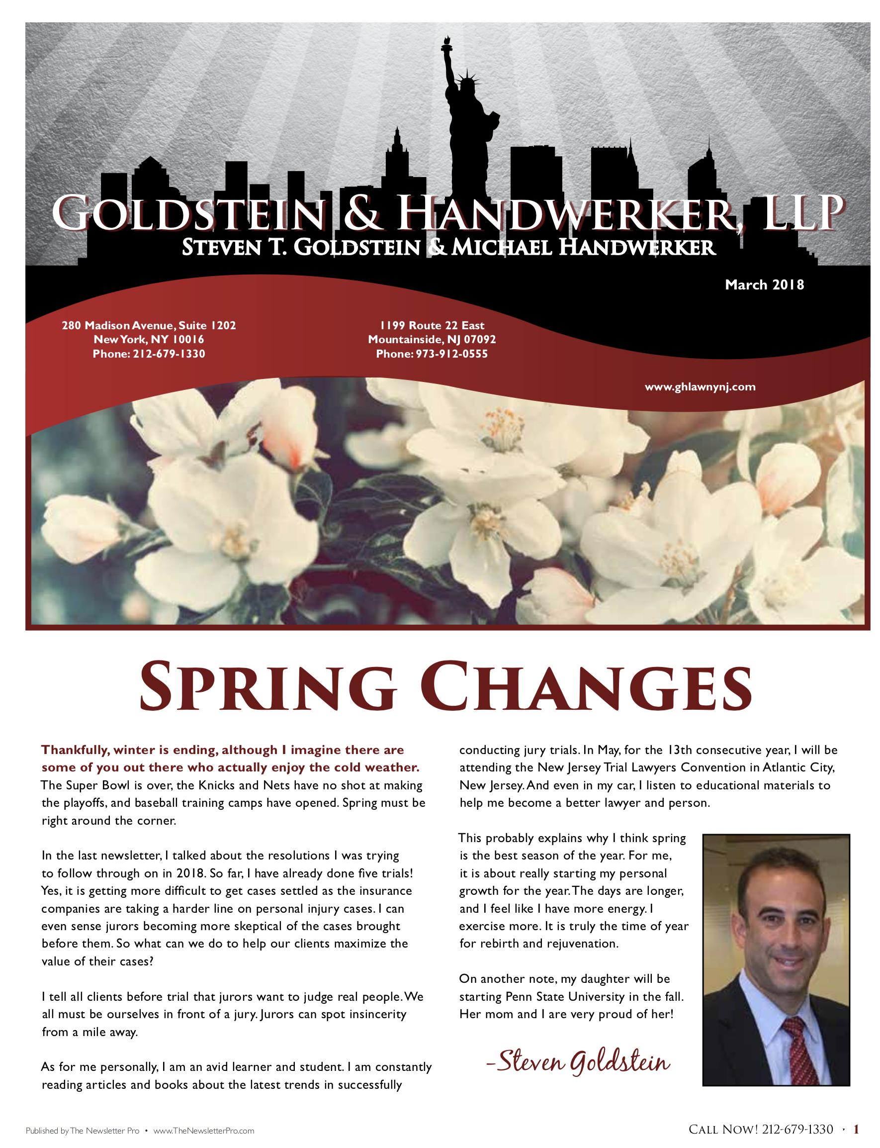 Newsletter • March 2018