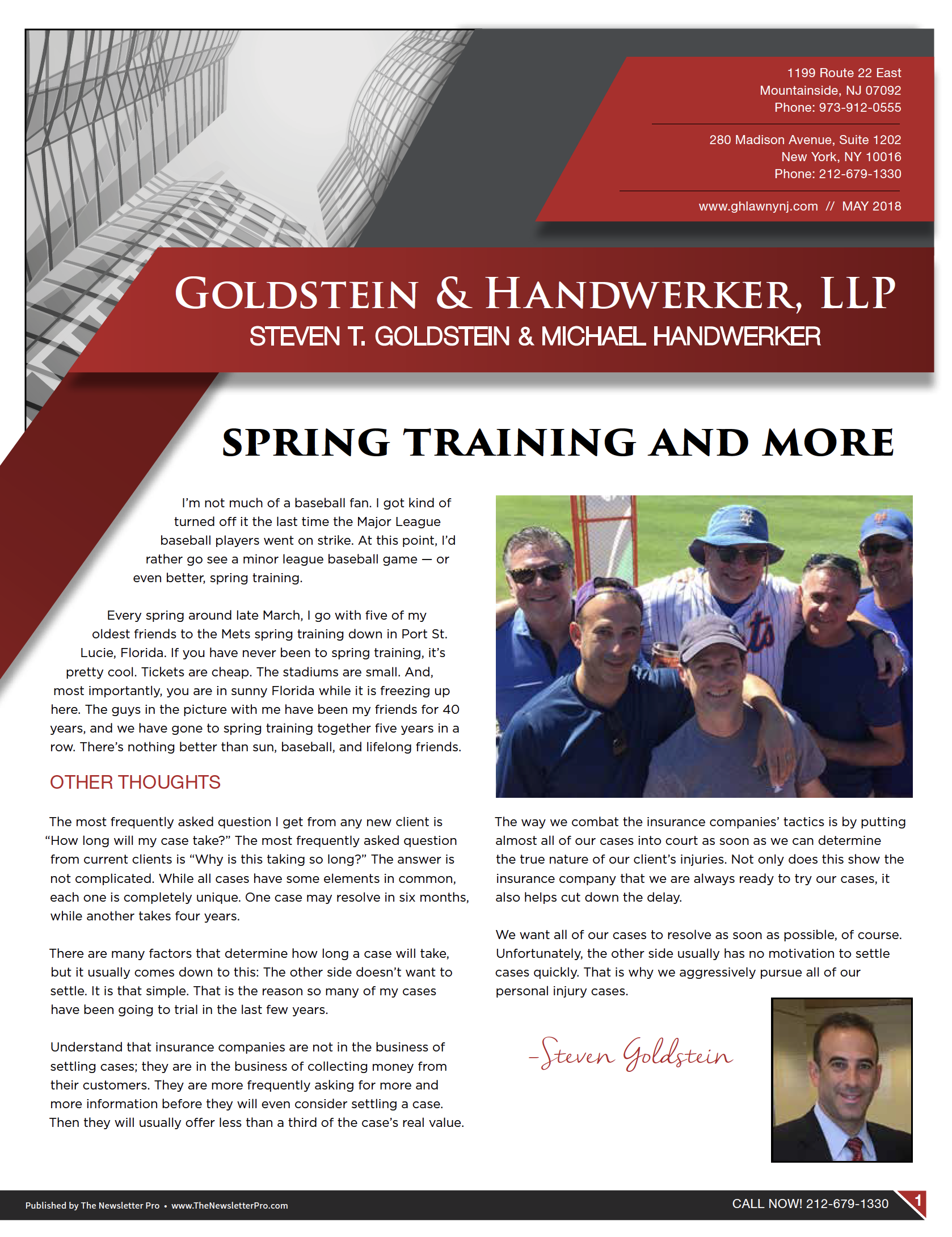 Newsletter • May 2018