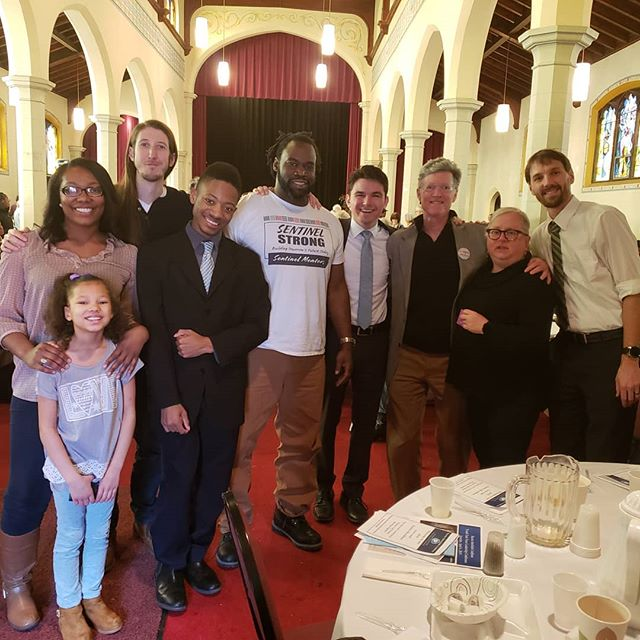Awesome time at @ricracine with legislators, community organizers and a community of passionate leaders.  That pie auction fundraiser tho! 👌🏿🙌🏿 #SentinelMentors #RacineInterfaithCoalition #Racine #SentinelMentors #wisconsin