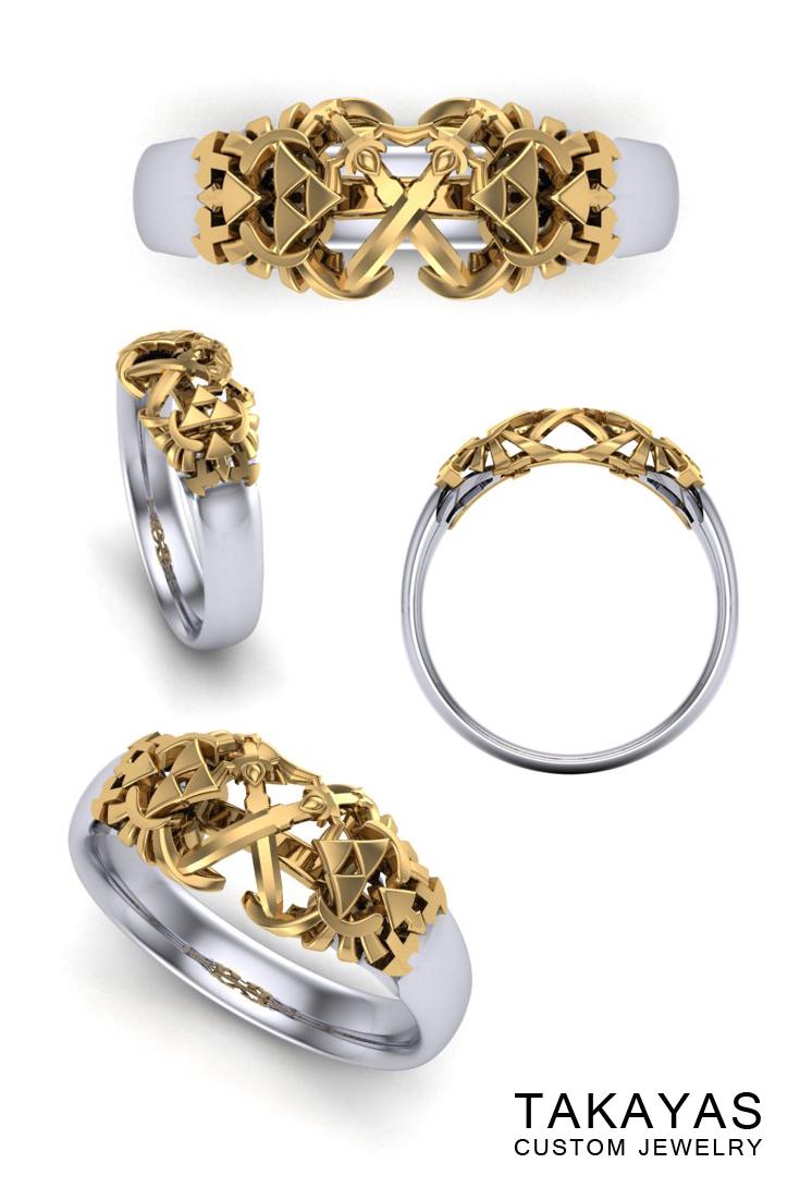 Mens Zelda Master Sword Wedding Band Takayas Custom Jewelry