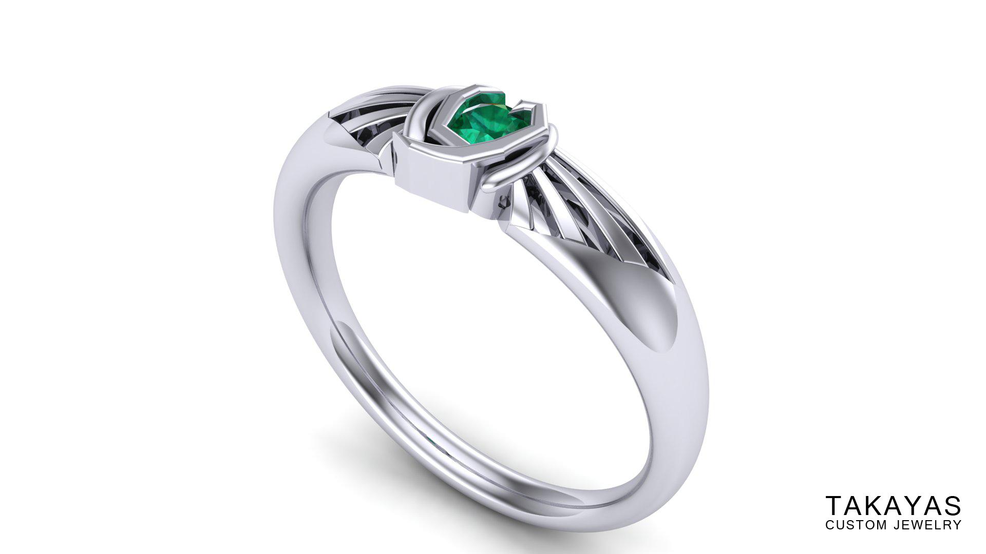 Kokiri Emerald Takayas Custom Jewelry Zelda Ring 2