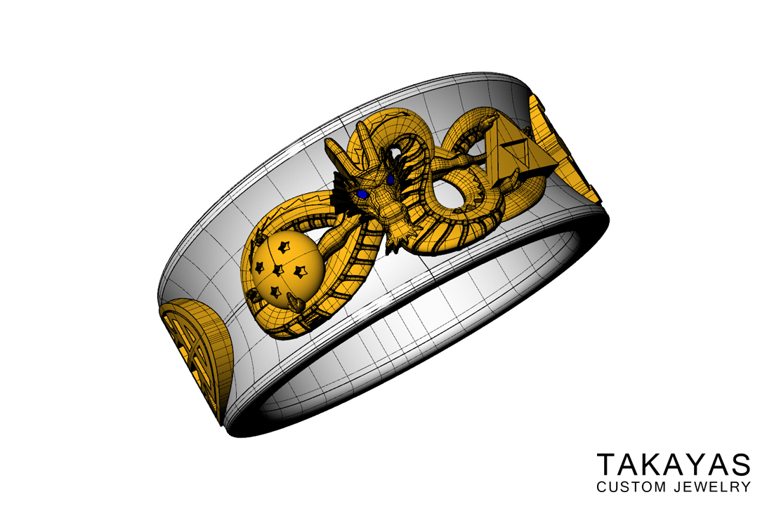 Takayas Custom Jewelry Dragon Ball Ring Designing