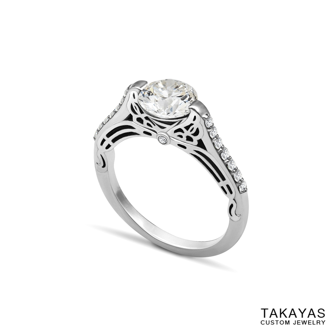 Butterfly_Superman_Engagement_Ring_1 Takayas Custom Jewelry
