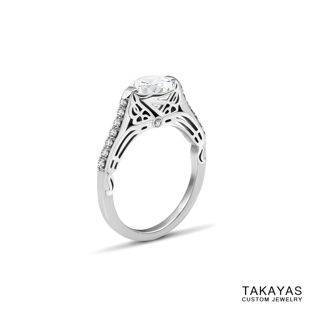 Butterfly_Superman_Engagement_Ring_2 Takayas Custom Jewelry