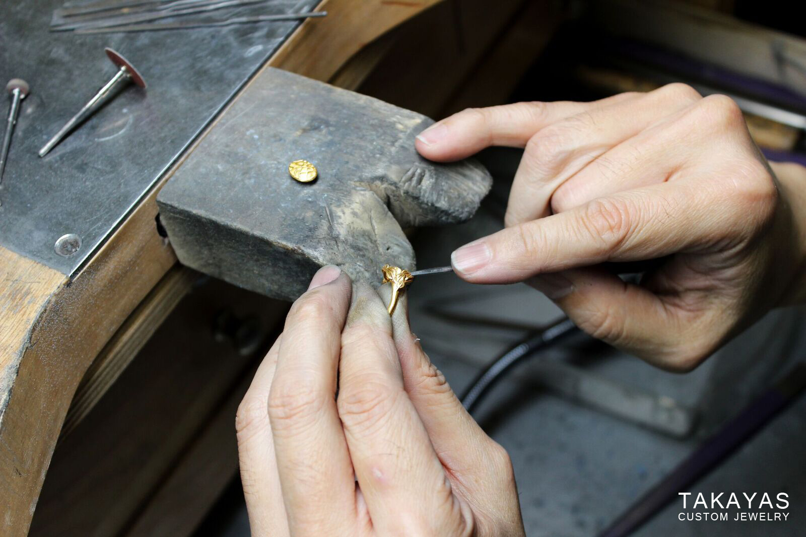 enamel enagement ring cleaning Takayas Custom Jewelry