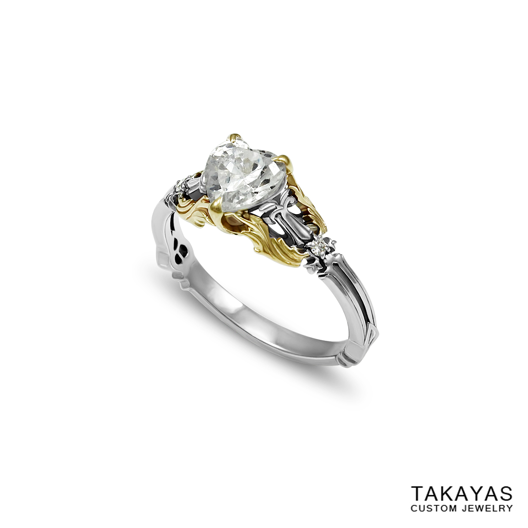 Kingdom Hearts Engagement Ring Takayas Custom Jewelry 2