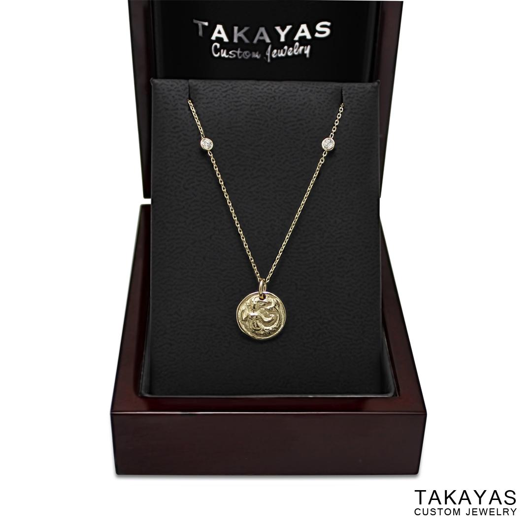mermaid pendant Takayas Custom Jewelry