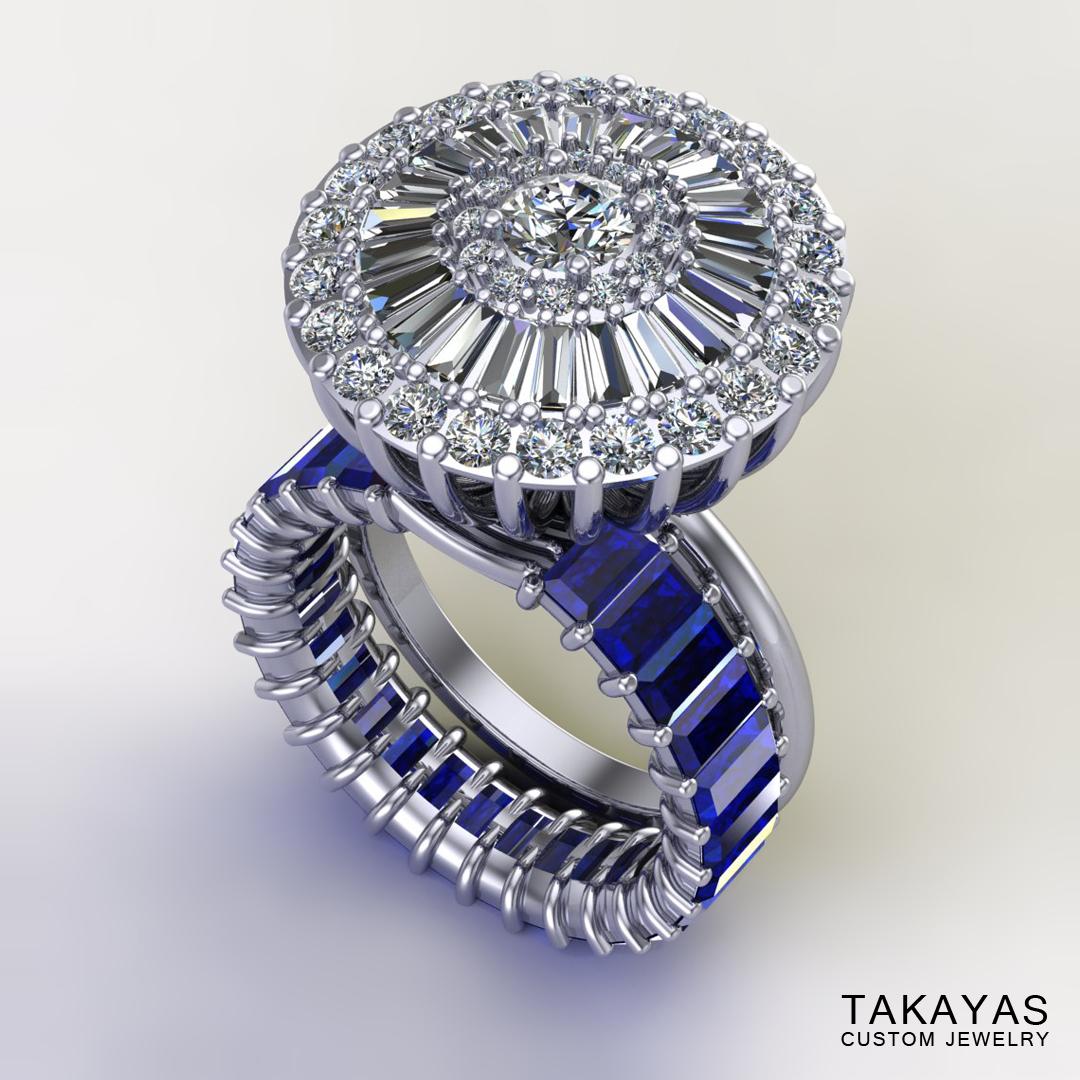 baguette-sapphire-diamond-ring-set-takayas-custom-jewelry