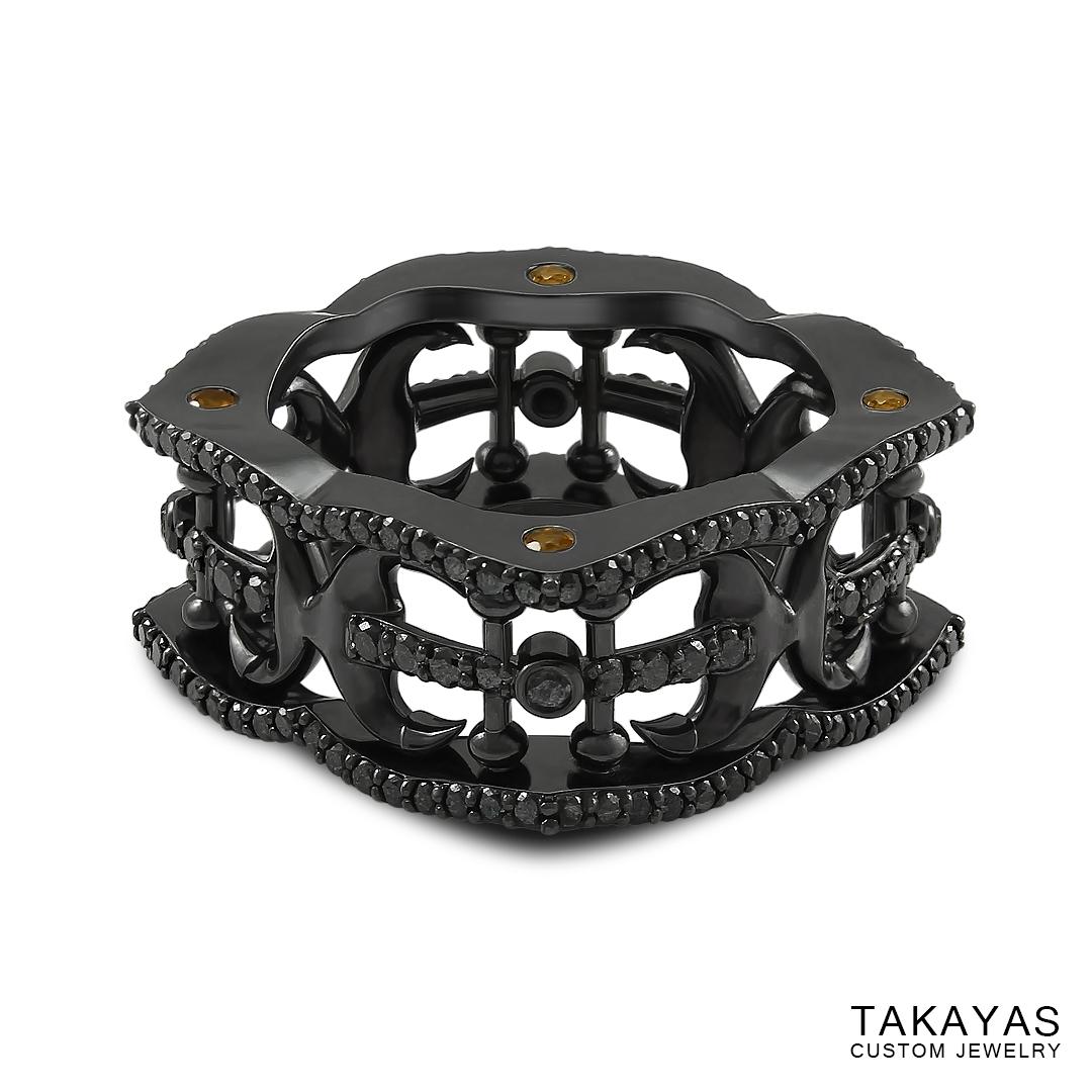 black-diamond-anchor-wedding-band-takayas