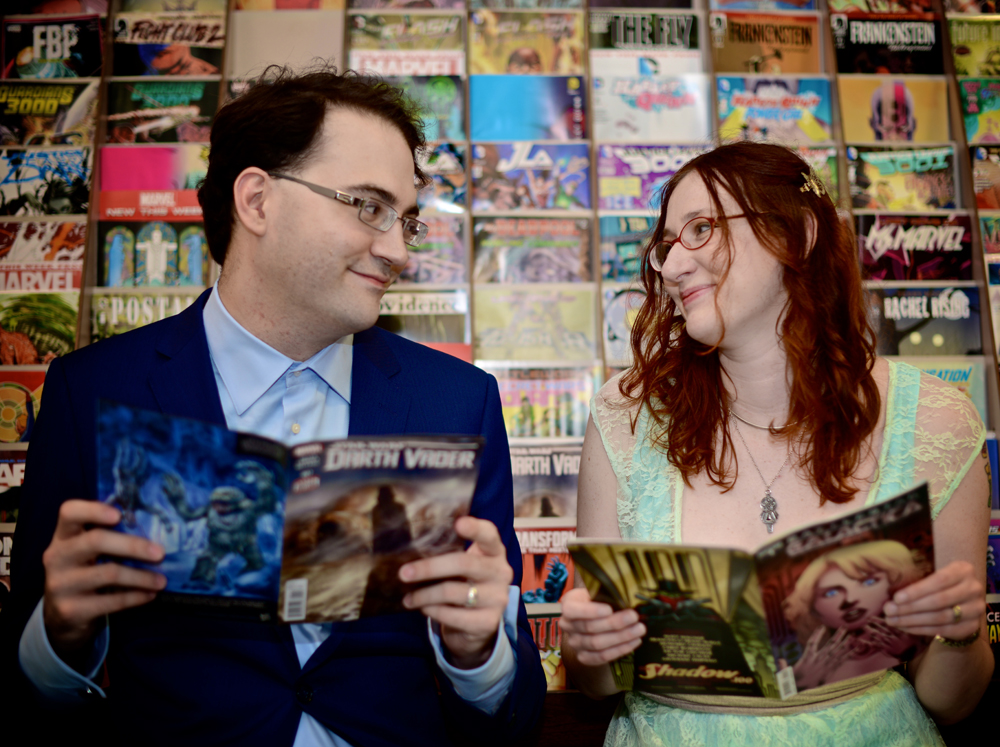 comic-book-engagement-photo