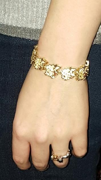 melissa-wearing-pikachu-bracelet