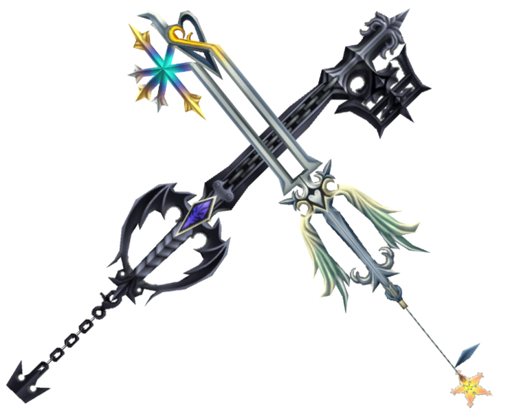 Oblivion and Oathkeeper keyblades from Kingdom Hearts, inspiration for custom wedding rings by Takayas