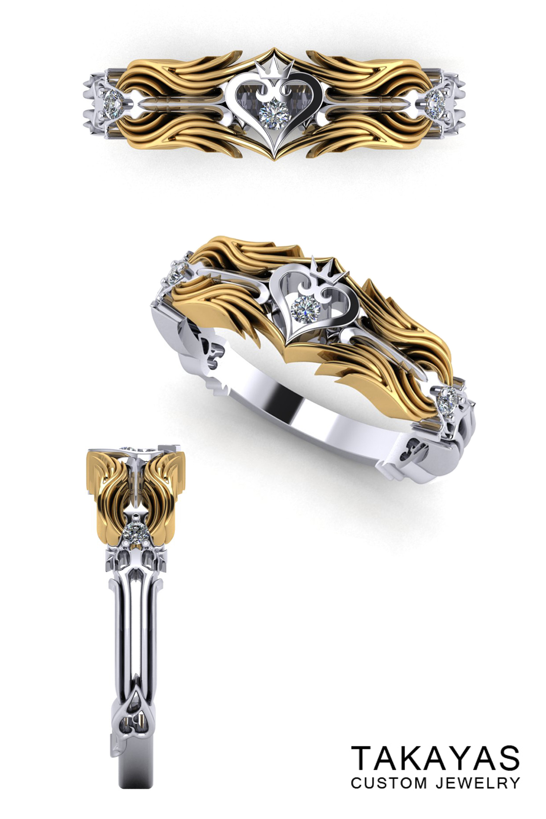 Kingdom Hearts Collection Ladies Wedding Ring by Takayas Custom Jewelry