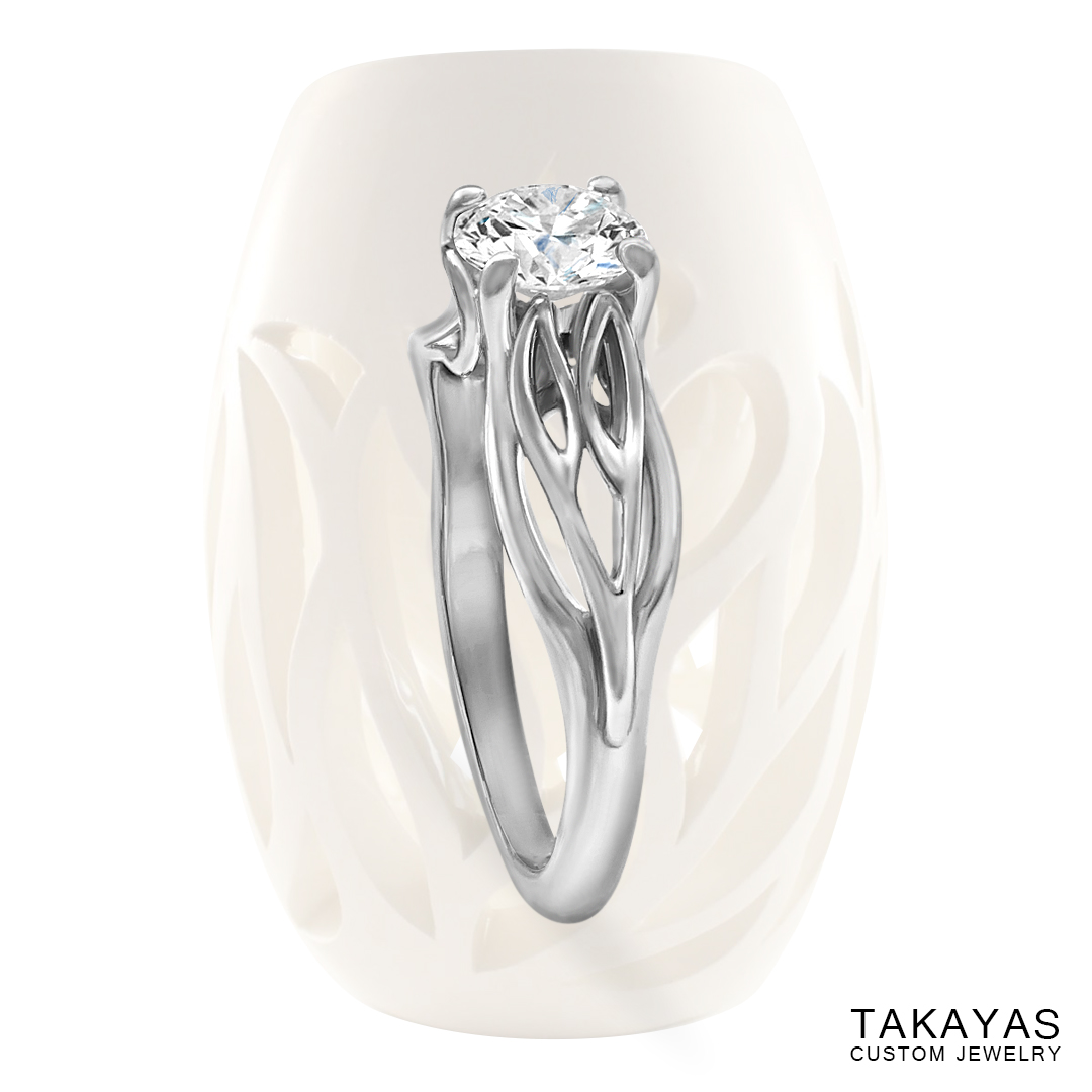Joy's Ring - a unique solitaire engagement ring by Takayas - main image