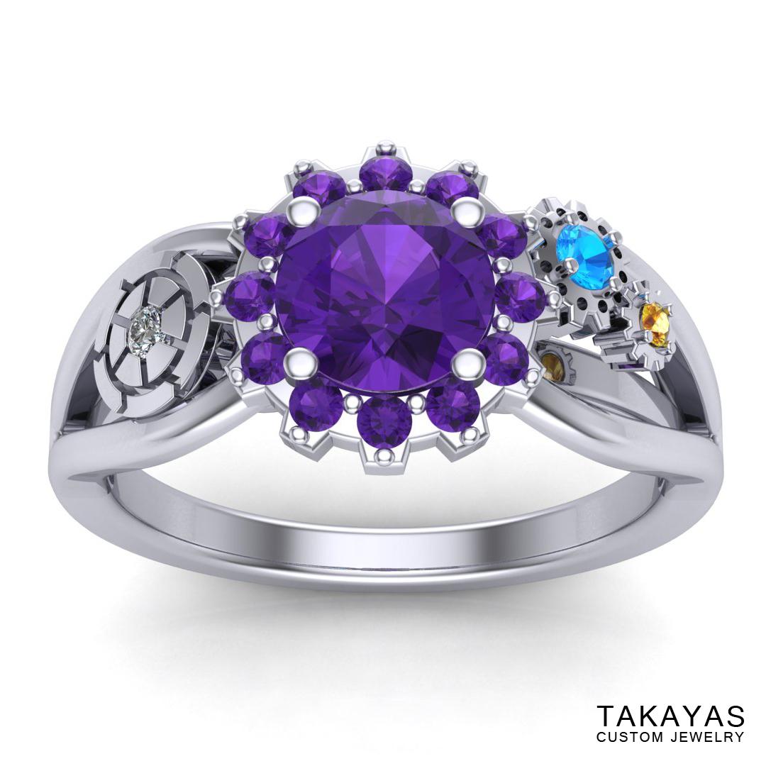 Carousel of Progress engagement ring by Takayas Custom Jewelry