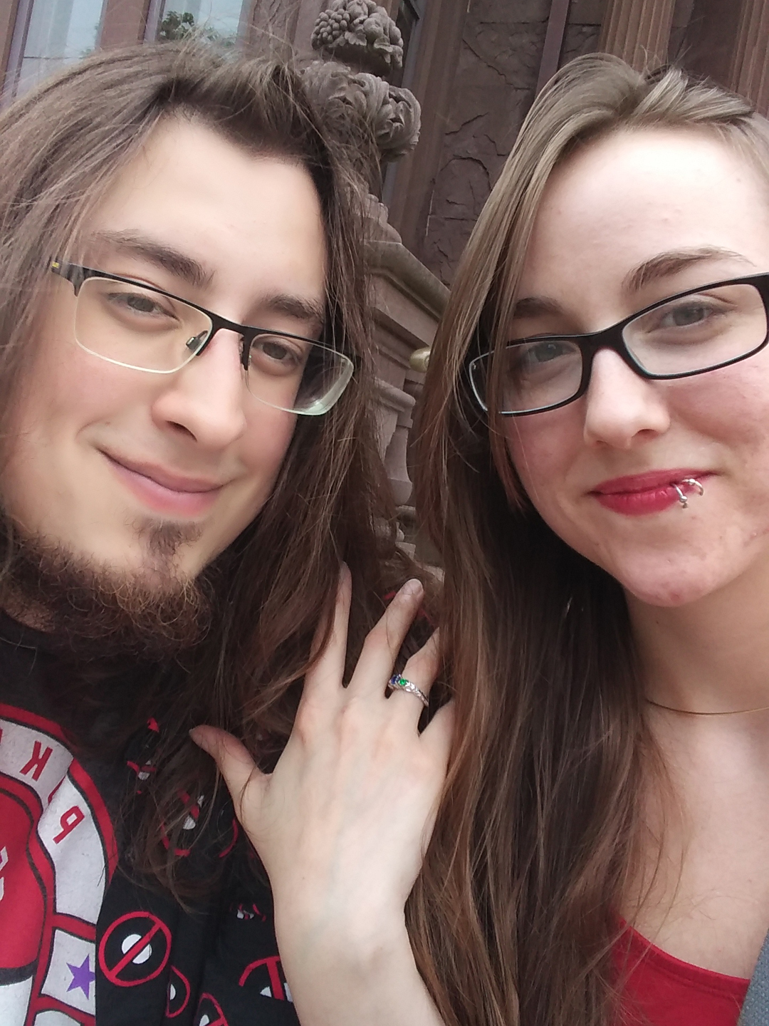 Bryan_Jackie_newly_engaged_with_Zelda_Wind_Waker_inspired_engagement_ring_by_Takayas