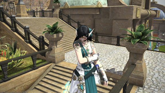Infi's FFXIV Scholar character, used as inspiration for her custom engagement ring by Takayas