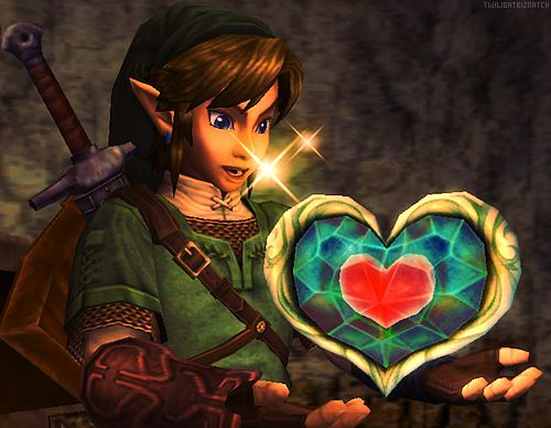 Zelda Twilight Princess heart container and heart piece, used as inspiration