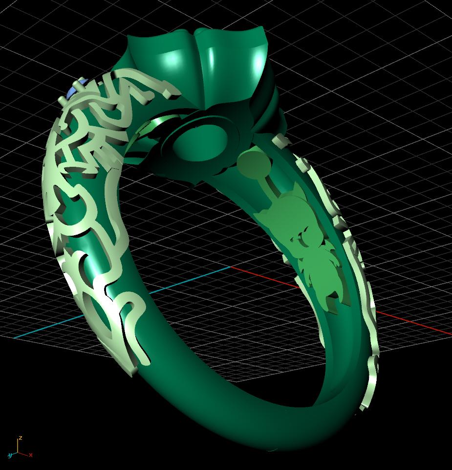 CAD render - inside view highlighting the hidden moogles