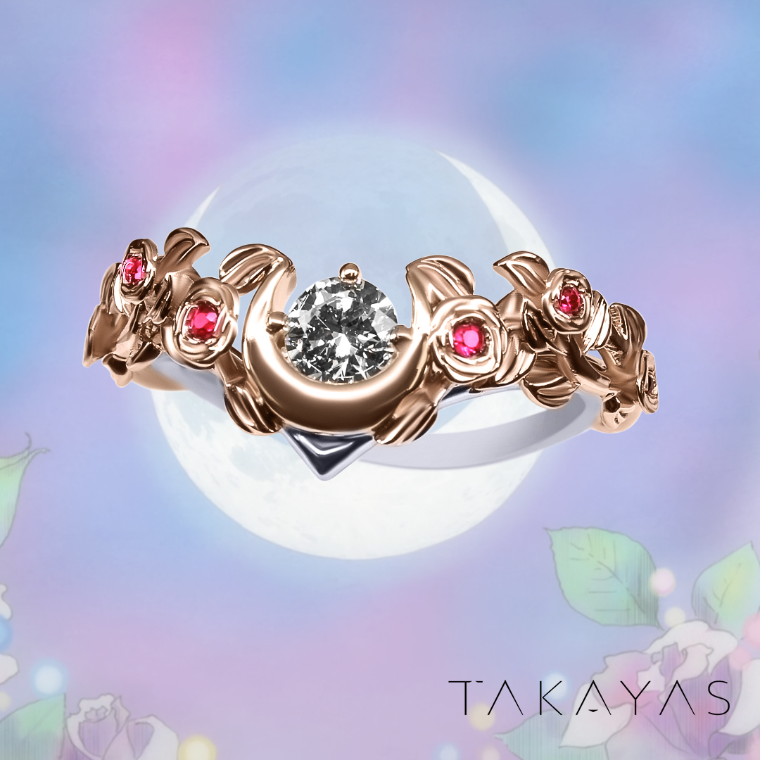 Custom Sailor Moon Inspired Engagement Ring by Takayas Custom Jewelry
