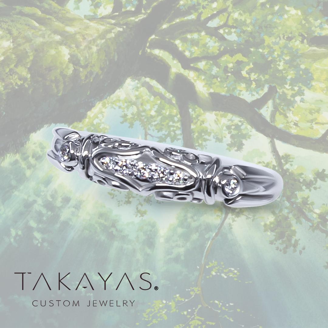 Princess Mononoke Inspired Wedding Ring by Takayas Custom Jewelry