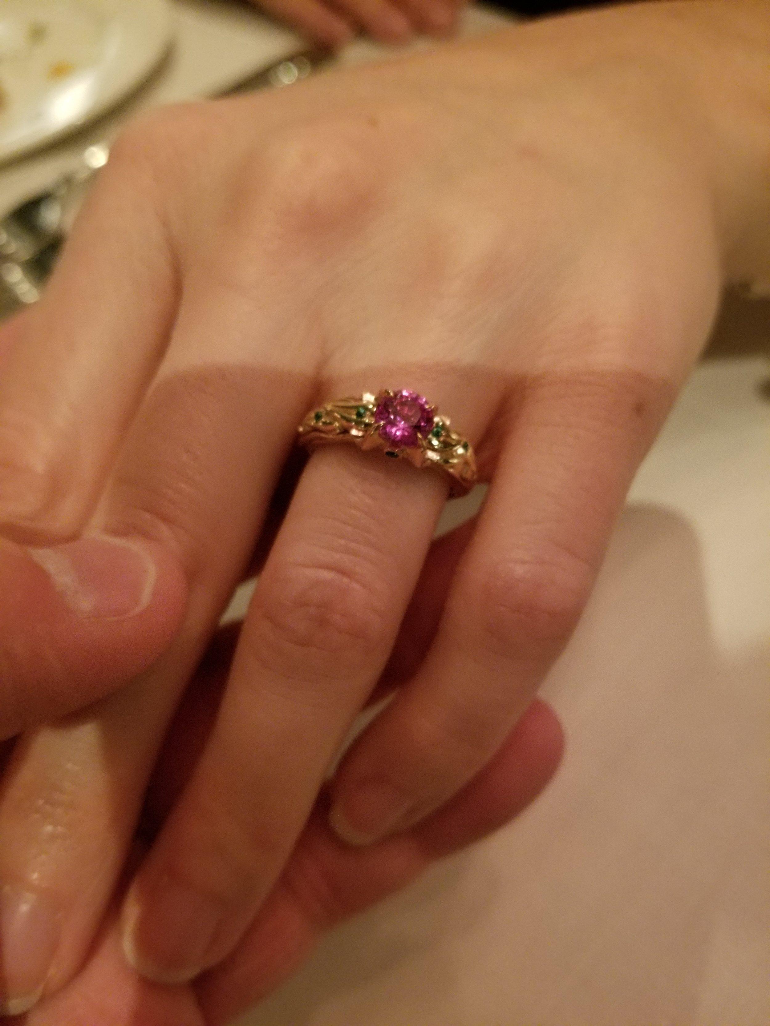 Custom Sailor Jupiter Inspired Engagement Ring by Takayas Custom Jewelry.