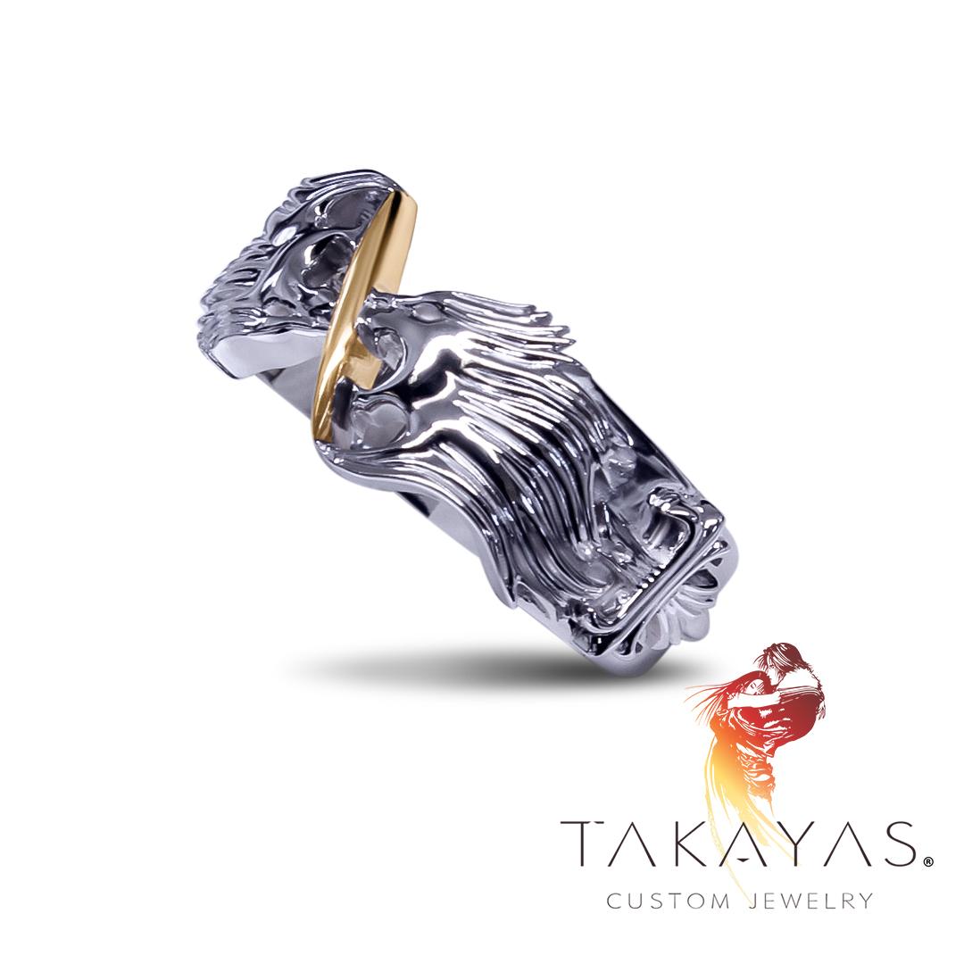 Custom Final Fantasy VIII Squall Inspired Ring by Takayas Custom Jewelry