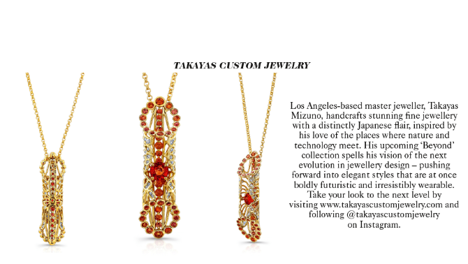 Takayas Custom Jewelry featured in the 'Jewellery Designer Profile' advertorial in the June 2019 issue of British Vogue