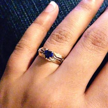 Takayas-Custom-Jewelry-Kingdom-Hearts-Oathkeeper-Wayfinder-Inspired-Heart-Cut-Blue-Sapphire-Engagement-Ring