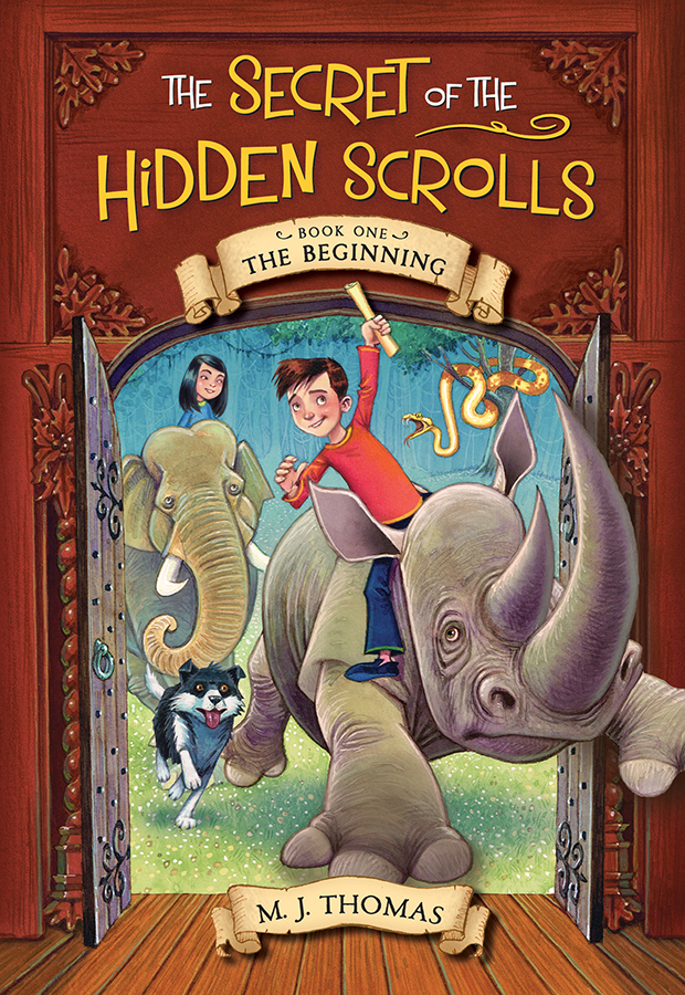 Book 1: The Beginning - In the first title in the series, The Beginning, Peter, Mary, and Hank stumble across ancient scrolls and find themselves witnessing the creation of the world. Can they decode the scroll's message before they get trapped in history forever? Children will root for the trio as they ride rhinos, meet the angel Michael, and talk to a certain snake in the Garden of Eden.