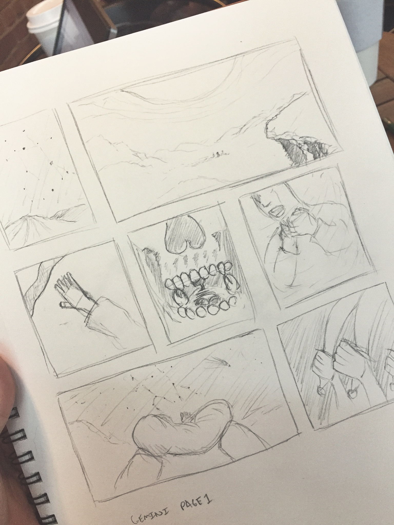 It's rough stuff, I know. Still can't be but a little proud of the first storyboard page I've ever made.