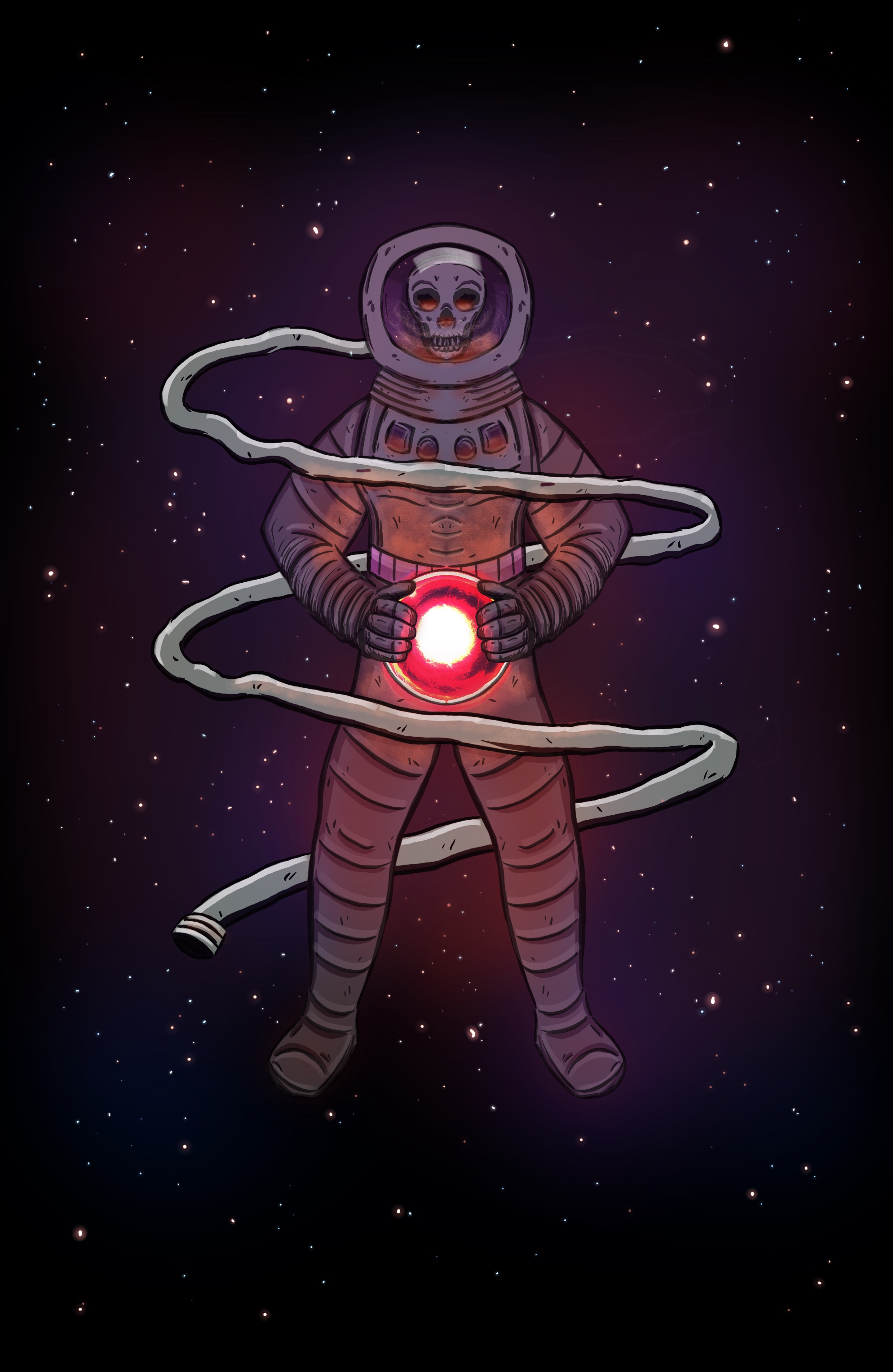 A dead astronaut splash page I did in Autodesk Sketchbook that will appear in the Cancer chapter of  Zodiac .
