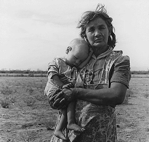 Depression Era Photograph Woman and Baby.jpg
