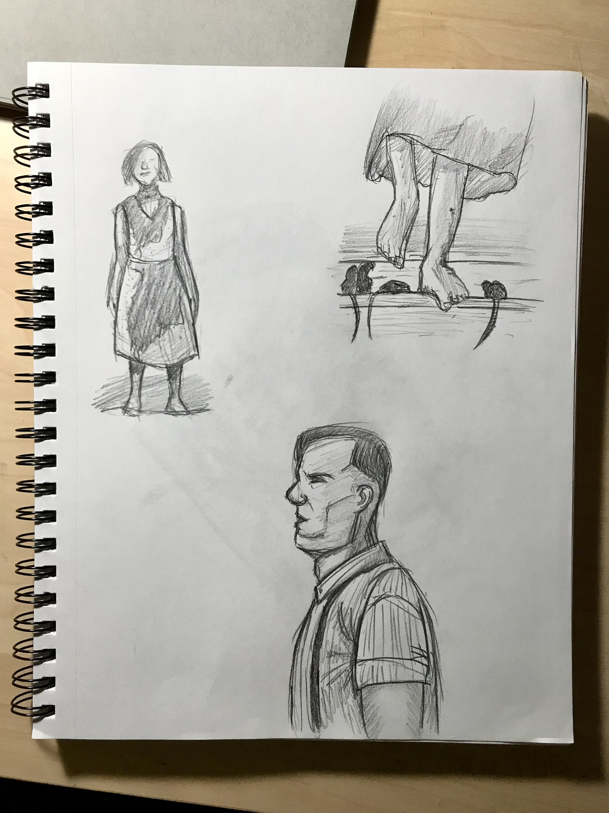 Some quick sketches of different scenes.