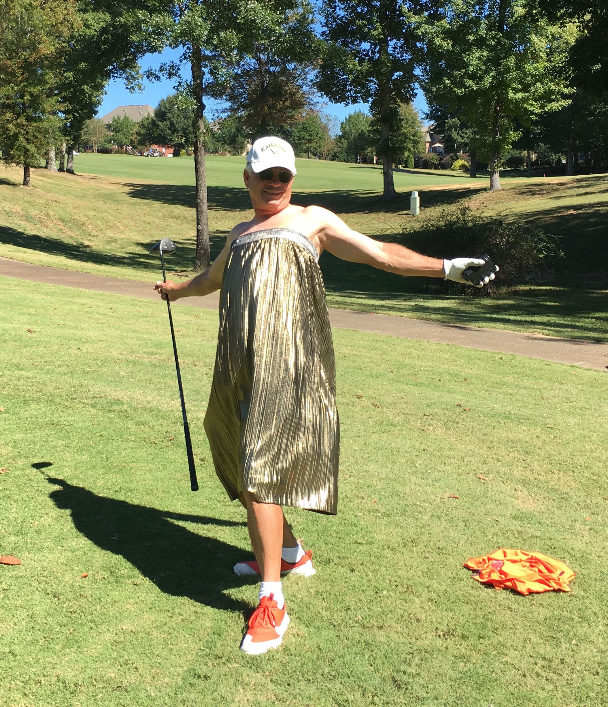 There was even a little dressing up on the course.