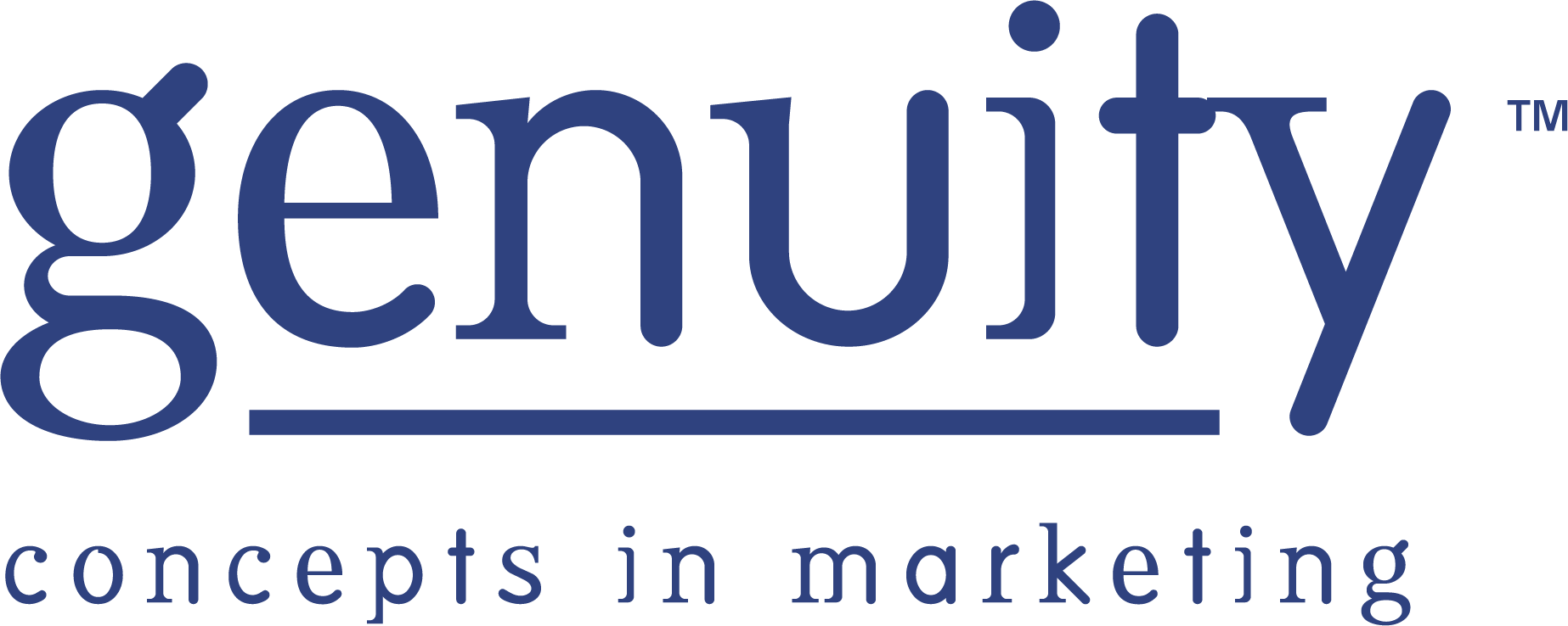 GENUITY Concepts in Marketing 1 Color logo Blue PMS 7867 C.png